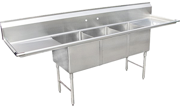 Charmant Three Compartment Sink